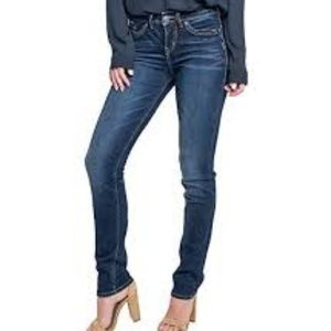 Silver Jeans Avery High Rise Straight Leg Curvy